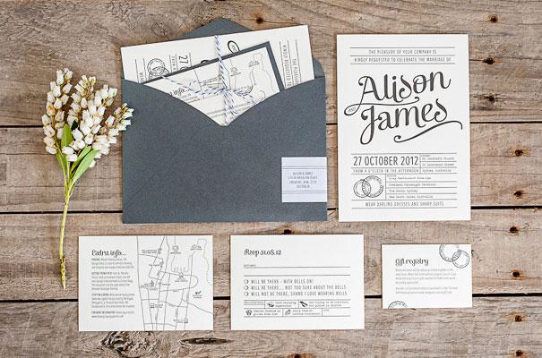 Simple Vintage Wedding Invitations: Hello May · DAISY & JACK VINTAGE INVITATIONS