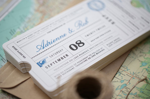 Lula Bella Stationery Invitation Travel Ticket Wedding 2 ...  Airplane Ticket Invitations