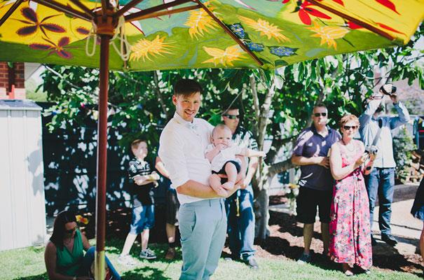 BACKYARD-WEDDING-melbourne-bunting-bright-surprise-short-dress-retro-DIY17