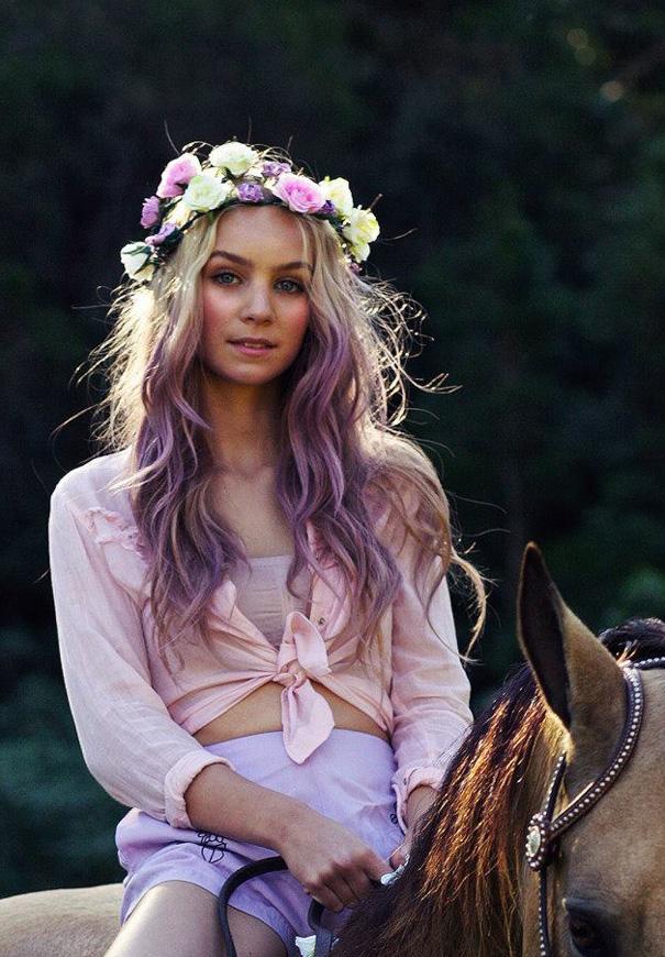 dip-dye-coloured-hair-purple-bride-bridal-inspiration-wedding4