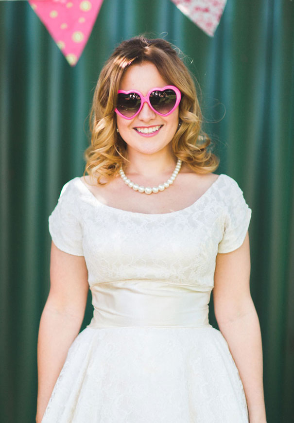 retro-wedding-diy-bride-pink-yellow2