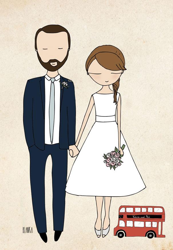 Line Drawing Wedding Couple : Hello may · blanka biernat illustrations