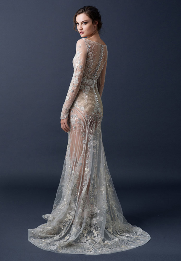 paolo-sebasion-AW15-the-sleeping-garden-blush-gold-bronze-bridal-gown-wedding-dress-violet-purple14