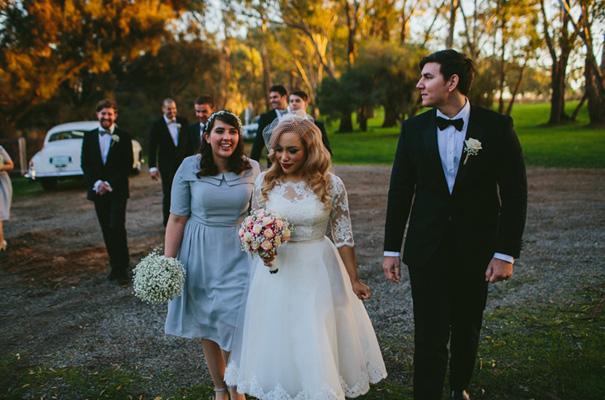 vintage-retro-inspired-short-lace-full-skirt-bride-wedding-dress23