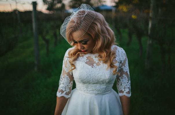 vintage-retro-inspired-short-lace-full-skirt-bride-wedding-dress33