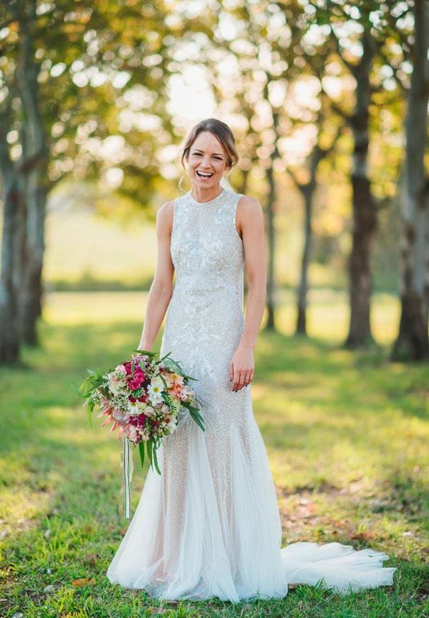 QLD-country-bush-australian-backyard-diy-wedding-sequin-silver-bridal-gown3