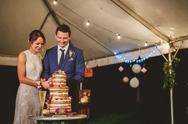 country-bush-australian-backyard-diy-wedding-sequin-silver-bridal-gown56
