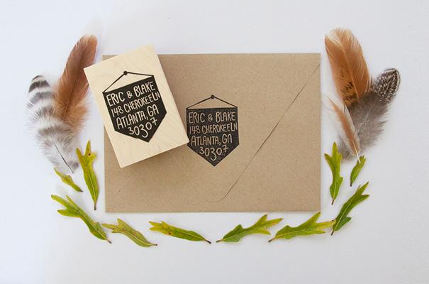 native-bear-etsy-custom-address-stamp-rsvp-wedding-stationery-invitation