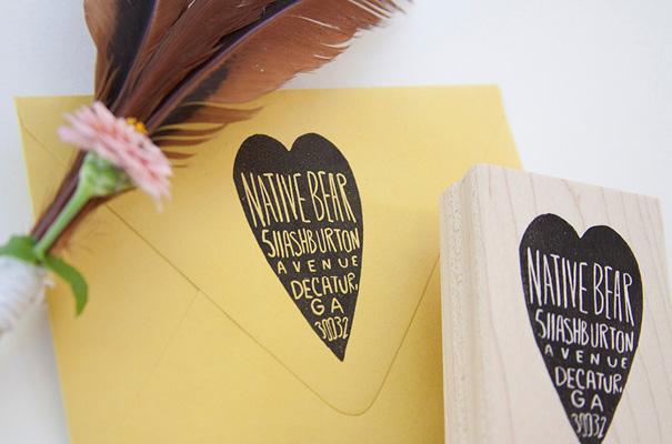 native-bear-etsy-custom-address-stamp-rsvp-wedding-stationery-invitation4