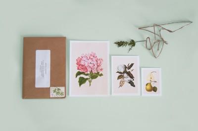 botanical-wedding-invitation-flower-green-kraft-classic