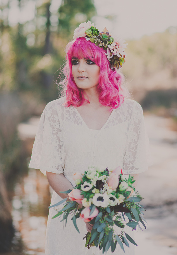 pink-hair-rock-n-roll-gypsy-boho-bridal-inspiration2