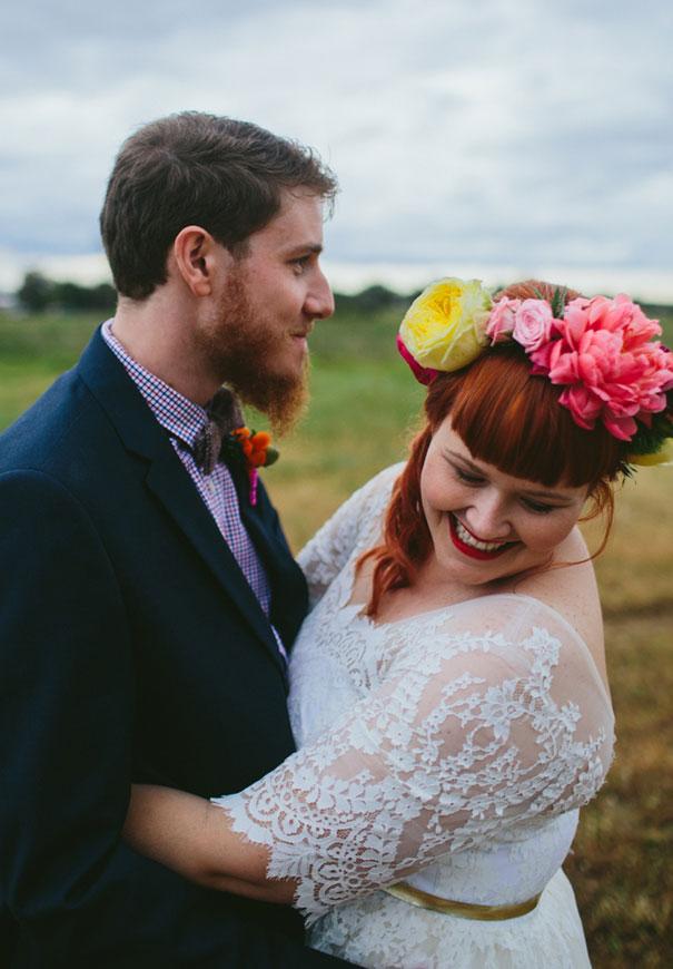 WA-bright-wedding-bridal-flowers-colourful-ribbons-diy-short-wedding-dress7