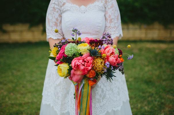 bright-wedding-bridal-flowers-colourful-ribbons-diy-short-wedding-dress12