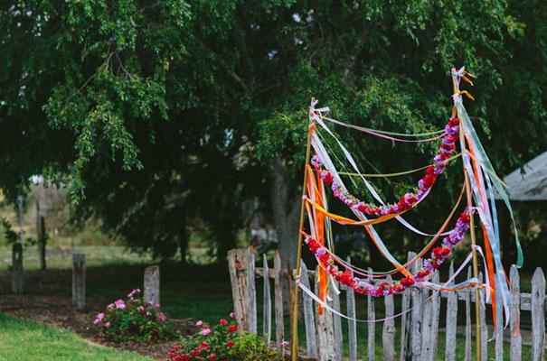 bright-wedding-bridal-flowers-colourful-ribbons-diy-short-wedding-dress13