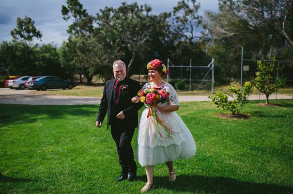 bright-wedding-bridal-flowers-colourful-ribbons-diy-short-wedding-dress16