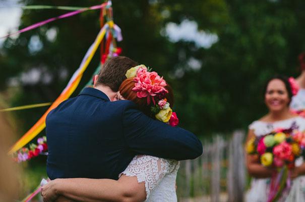 bright-wedding-bridal-flowers-colourful-ribbons-diy-short-wedding-dress18