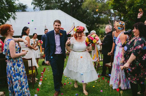 bright-wedding-bridal-flowers-colourful-ribbons-diy-short-wedding-dress19