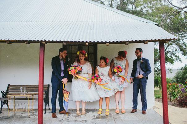 bright-wedding-bridal-flowers-colourful-ribbons-diy-short-wedding-dress22
