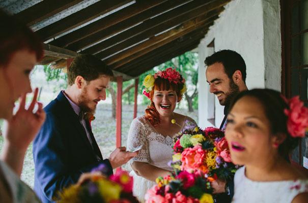 bright-wedding-bridal-flowers-colourful-ribbons-diy-short-wedding-dress24