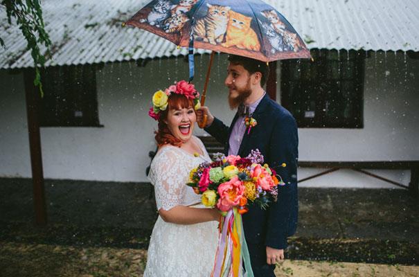 bright-wedding-bridal-flowers-colourful-ribbons-diy-short-wedding-dress26