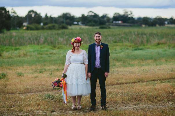 bright-wedding-bridal-flowers-colourful-ribbons-diy-short-wedding-dress33