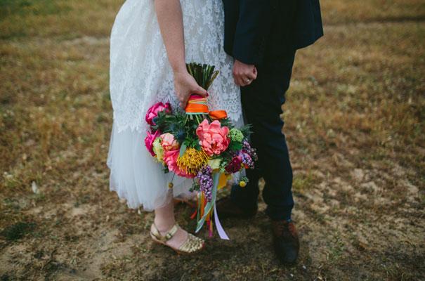 bright-wedding-bridal-flowers-colourful-ribbons-diy-short-wedding-dress34