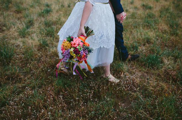bright-wedding-bridal-flowers-colourful-ribbons-diy-short-wedding-dress37