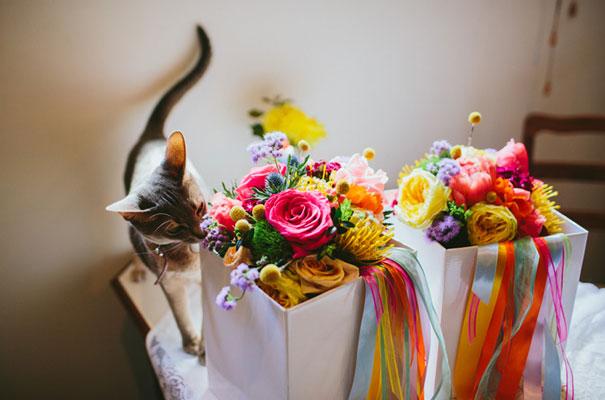bright-wedding-bridal-flowers-colourful-ribbons-diy-short-wedding-dress7