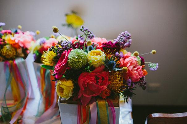bright-wedding-bridal-flowers-colourful-ribbons-diy-short-wedding-dress9